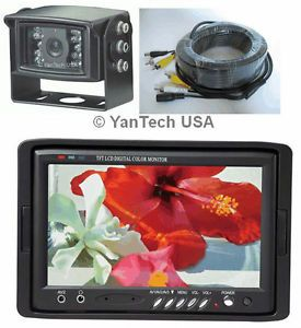 """7"""" Color LCD Monitor CCD Rear View Backup Camera System"""