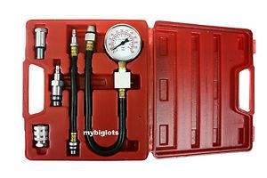 Automotive Compression Tester Kit Gauge Gas Engine