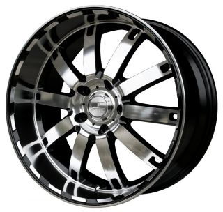 "22"" HD Autobahn Gloss Black Machined Wheels Rims 5x115 25mm Magnum Charger 300C"