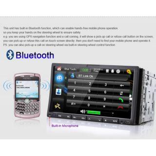 "Double DIN in Dash 7"" HD Touch Screen Car DVD Player Radio BT iPod 3G WiFi RMVB"