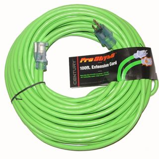 100 ft Heavy Duty Electric Extension Power Cord 12 Gauge Electrical Cable Green