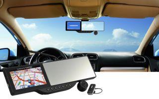 Specchietto Retrovisore Con Navigatore GPS Bluetooth DVR HD 720P