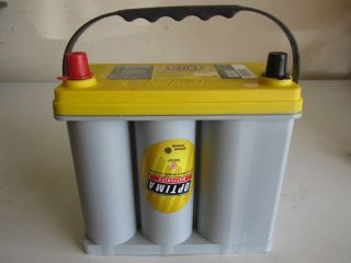 New Optima Yellow Top Car Battery D51R D51 Dry Cell 12 Volt Deep Cycle