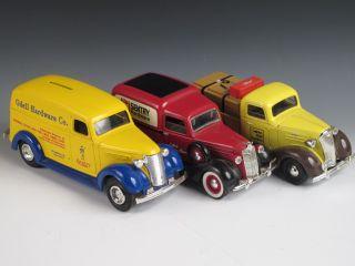 3 Diecast Truck Banks Ertl Liberty Classics Odell Sentry Hardware Golden Rule