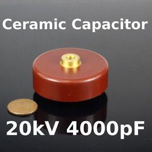 20KV 4000pF High Voltage Ceramic Capacitor Doorknob HV Tesla Coil Ham Radio