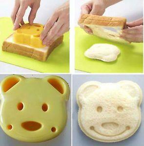 1 PC Lovely Safe Cartoon Bear Mold Mould Sandwich Bread Maker Cutter Japan New