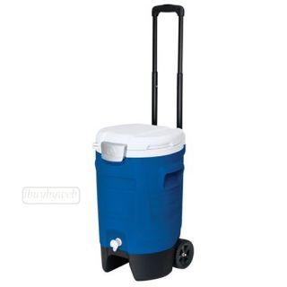 Igloo 42115 5 Gallon Sport Roller Rolling Drink Beverage Cooler Majestic Blue