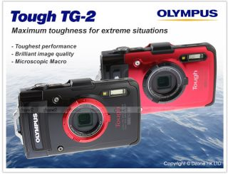 Olympus Tough TG 2 Water Shock Freeze Crush Proof GPS Digital Camera Black