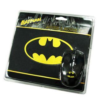 Batman Optical Mouse Mouse Pad for Windows Mac OS Computer 1000dpi New