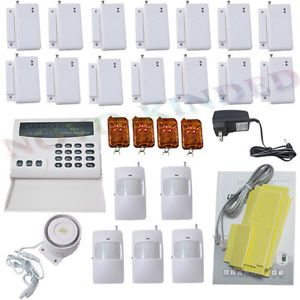 Wireless Home Security System Burglar Alarm Auto Dialer 5 Motion Detectors