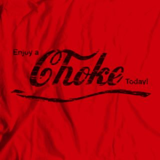 Mens Womens MMA Enjoy Coke Choke Grappling Wrestling Jiu Jitsu T Shirt Tee Retro