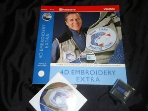 Embroidery Digitizing Software Husqvarna Viking 4D Embroidery Extra Dongle Incl