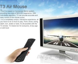 2 4GHz Air Mouse QWERTY Keyboard Remote for Smart TV Media Player PC Wireless