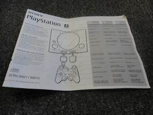 Sony PlayStation 1 System Instruction Manual for Model SCPH 9001 94010