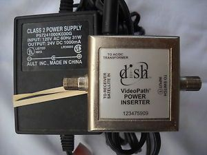 Dish Network Videopath Power Inserter Model 123475909 Power Adapter