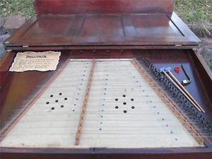 Antique Parlor Hammer Dulcimer Cimbalom String Music Instrument Santur