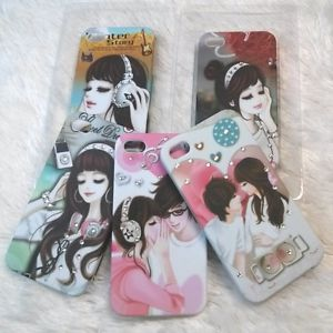 Cubic Anime Illustration Cartoon Hard Cases for iPhone 4 iPhone 4S Bumper Free