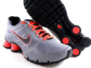 Nike Shox Turbo 12 Gray Orange Black Running Trainer Gym Work Out Men Shoes