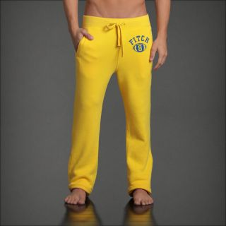 Abercrombie A F Classic Straight Sweatpants s M L Lounge Pants Yellow New