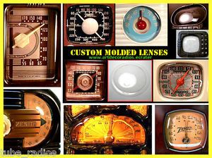 Dial Cover Lens for Antique Tube Radios Zenith Emerson Philco Fada More