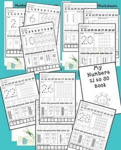 Number 1 30 Worksheets Printable Photocopiable PDF CD Teaching Resource