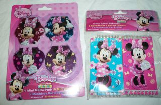 Minnie Mouse Bow tique Notepads Notebooks Memo Pads Birthday Party Favors