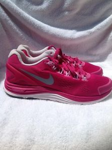 Nike Womens Lunarglide 4 524978 606 Pink Awesome Running Cross Training Shoes