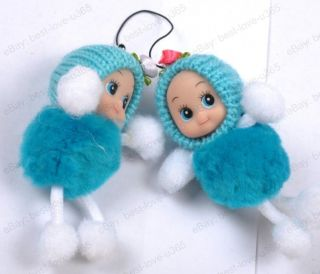Wholesale Knit Cap Cute Doll Pendants Charms Strap for Handbags Cell Phone PDAs