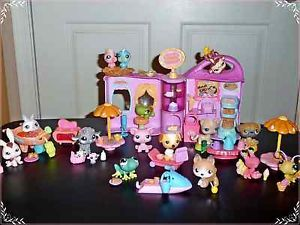 Littlest Pet Shop Doggie Diner Cafe Restaurant Treat Big Lot Food Dinner