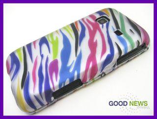 For Straight Talk Samsung Galaxy Precedent Colorful Zebra Hard Case Phone Cover