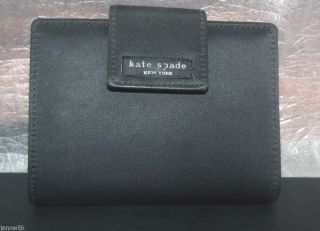 Kate Spade Black Nylon Leather Personal Organizer Day Planner