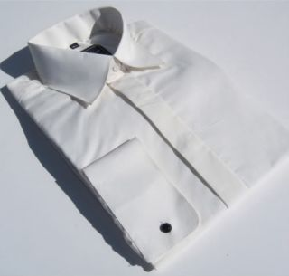 New £10 Page Boys Ivory Cream Wedding Dress Shirt Classic Turndown Collar