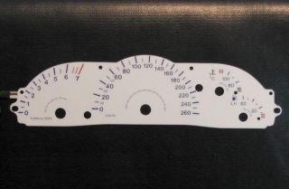 Vauxhall Opel Vectra B Plasma Glow Dials 260 KMH TM