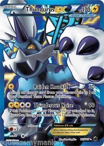 Pokemon Card Plasma Freeze Ultra RARE Holo Thundurus EX Full Art Mint