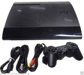Sony PlayStation 3 Super Slim PS3 12GB 12 GB Console Black CECH 4201A
