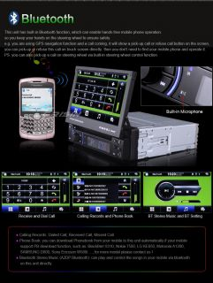 ES1013MO 7 inch 1 DIN HD Car DVD Player GPS iPod TV Autoradio