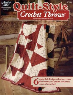Annies Quilt Style Crochet Throws 6 Colorful Designs