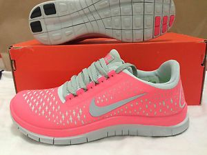 Womens Nike Free 3 0 V4 Size 8 Pink Shoes Running Cross Training 5 0