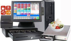 Pcamerica RPE Pro POS Frozen Yogurt Restaurant Complete System 1 Station