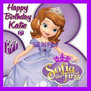 Sofia The First Birthday Frosting Sheet Edible Cake Topper Image Decorations