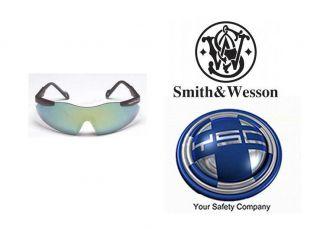 Smith Wesson Magnum Safety Glasses Black Frame Gold Mirror Lens 19940