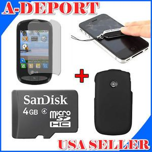 4GB MicroSD Memory Card Cleaner Case Screen Protector for LG 800G Cookie Style