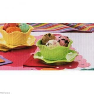 Dessert Ice Cream Party Set 10 PC Party Bowls Kitchen Servers Buffet