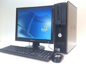 Dell Optiplex GX520 Dcne Desktop Computer P4 2 8GHz 2GB RAM 80GB Win XP Monitor