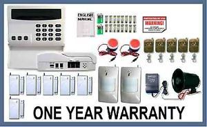 Wireless Home Security System House Alarm Auto Dialer AV 3 Sirens Very Loud New