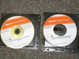 Windows Microsoft Partner Small Business Server 2008 Standard 2 DVD's 64 Bit