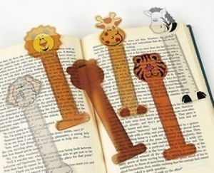 12 Zoo Animal Jungle Bookmark Rulers Party Favors