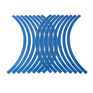 """10"""" 12"""" Reflective Car Motorcycle Rim Stripe Wheel Tape Decal Stickers Blue"""