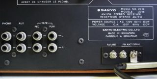 1979 Nostalgia Sanyo Am FM Stereo Receiver Model 2016 Works
