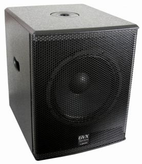 "Gemini GVX SUB15P 15"" 1600 Watts Peak DJ Powered Active Subwoofer Free Cables"